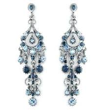 royal blue chandelier earrings navy and light blue chandelier formal earrings affordable elegance bridal royal blue