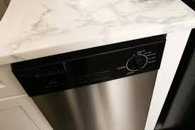 how to install a dishwasher under a quartz countertop