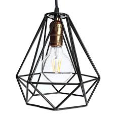 New l cover loft industrial edison metal wire frame ceiling pendant hanging light l l shade modern cage fixture in l covers shades from lights