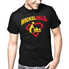 Wickelheld Vater Papa Superheld Geburt Baby Sprüche Geschenk Lustig Spaß T Shirt