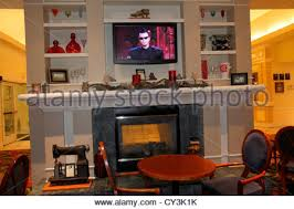 garden inn motel. Maine Freeport Hilton Garden Inn Motel Hotel Lobby Fireplace Decor Decoration Flat Screen Panel TV -