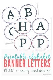 Letter For Banner Free Printable Banner Letters Make Diy Banners And Signs Alphabet