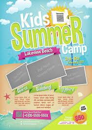 Kids Summer Camp Flyer Summer Kids Flyer Camp Modern