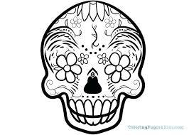Skull Coloring Pages Printable Sugar Skull Coloring Free Printable
