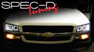 Lights For 2006 Chevy Silverado Specdtuning Installation Video 2003 2006 Chevy Silverado Head Lights Projector Head Lights