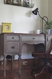 painted office furniture. Annie Sloan French Linen And Dark WaxI Am The Goldilocks Of Desks « Bread \u0026 Honey Painted Office Furniture F