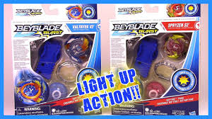 Beyblade Light Wheel Valtryek V2 Spryzen S2 Rip Fire Packs Beyblade Burst By Hasbro