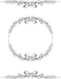 vintage frame design png. Download Free Vintage Clipart \u2013 Laurel Round Frame Graphic Design Png