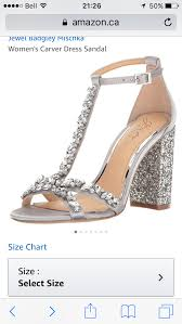 Le Chateau Shoe Size Chart Jewel By Badgley Mischka Wedding Shoes Poll And Pic Heavy