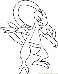 Images Of Pokemon Grovyle Coloring Pages Rock Cafe