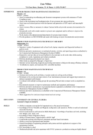 Sample Resume For Maintenance Technician Production Maintenance Technician Resume Samples Velvet Jobs 16