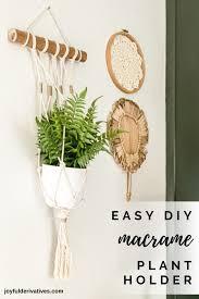 easy diy macrame plant hanger wall