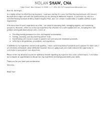 Resume For Cna Position Interesting Cover Letter For Cna Best Solutions Of Resume Examples Sample Cover