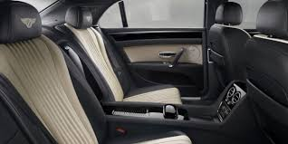bentley flying spur v8s rear cabin with black and granite leather seats bentley motors