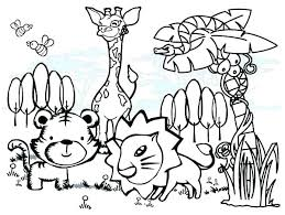 Coloring Pages Forest Animals Cute Pictures To Print Zoo Animals Coloring Page Baby Pages Forest