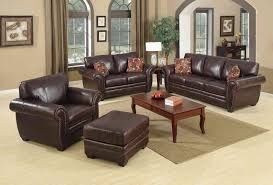 Living Room Colors With Brown Leather Furniture Living Room Beautiful Chocolate Brown Couch Set With Square