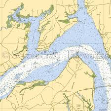 Potomac River Charts Maryland Nanjemoy Potomac River Nautical Chart Decor