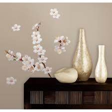 Peel And Stick Wall Decor 10 In X 18 In Dogwood Branch 26 Piece Peel And Stick Wall Decals