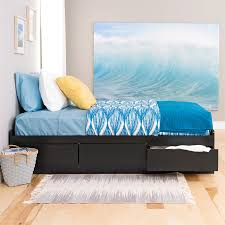 twin platform beds with storage. Shop Prepac Furniture Black Twin Platform Bed With Storage Beds R