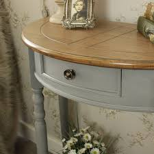 admiral range half moon console table with drawer and shelf half moon console table t96
