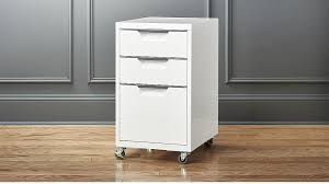 TPS white 3-drawer filing cabinet | CB2