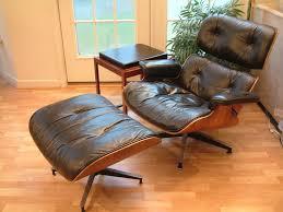 Mid Century Modern Herman Miller Eames Lounge Chair Ottoman Erik Duck Duch  Table | eBay