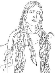 Beautiful Native American Girl Coloring Page Kids Play Color