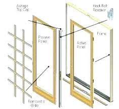 sliding door replacement hardware closet track parts beautiful patio for andersen gliding