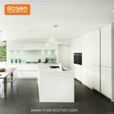 spray painting glossy white baking finish flat handless kitchen cupboards and cabinets
