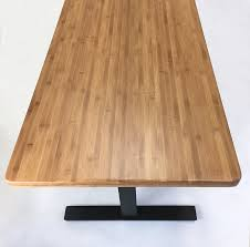 custom standing desk kidney shaped mid. Unique Shaped Amazoncom The Taylor  Modern Adjustable Standing Desk Bamboo Electric  Desk Handmade Inside Custom Kidney Shaped Mid