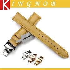 online get cheap seiko watch bands for men aliexpress com alligator grain watch leather strap butterfly deployment buckle clasp watch band for seiko tissot omega