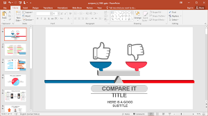 Animated Compare It Powerpoint Template Comparison Lovely