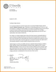 Letter Of Recommendation Template For College Student Letter Of