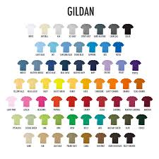 Gildan 5000 Color Chart 2018 Gildan T Shirts Colors Rldm