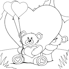 Small Picture teddy bears and hearts coloring page coloringcom