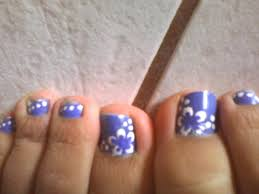 Nail art for feet - how you can do it at home. Pictures designs ...