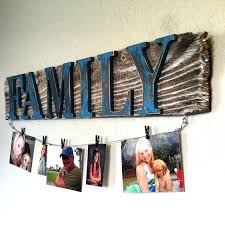 rustic wall hangings family photo wall hanging ideas rustic reclaimed wood sign with clothesline wire rustic rustic wall