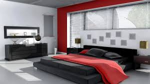 Modern Black And White Bedroom Interactive Picture Of Modern Red Black And White Bedroom