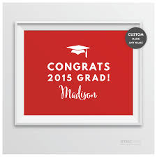 Andaz Press Personalized Graduation Party Signs Class Of 2015
