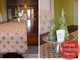 Simple Christmas Decor: Burlap Table Runner \u0026 Bay Leaf Trees ...