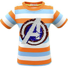 Boys And Girls Child Reflective Sequins T Shirt Magic Short Sleeve Tops 4 14 Years Old