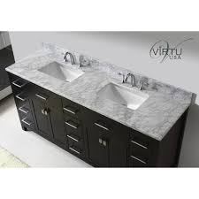 Square Sinks Bathroom Virtu Usa Md 2172 Wmsq Caroline Parkway 72 Double Square Sinks