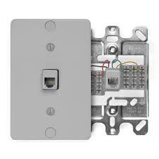leviton phone jack wiring diagram leviton image 40253 g leviton telephone wall phone jack 6p4c quick connect on leviton phone jack wiring diagram