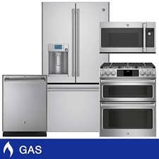 A GE Caf GAS 222CuFt CounterDepth Kitchen Package