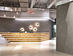 industrial office space. Contemporary Space Impressivedoubleheightreceptionarea In Industrial Office Space R