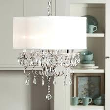 crystal chandelier drum shade lighting endearing white drum shade chandelier with crystals