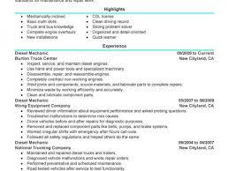 Heavy Duty Mechanic Resume Sample Unforgettable Diesel Mechanic