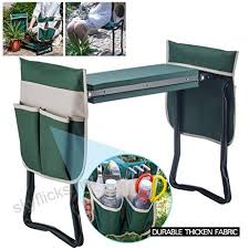 artist hand garden kneeler seat w two large bonus tool pouches soft eva kneeling