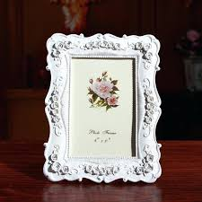 creative photo frame roses flowers crystal diamond white style fashion vintage ornaments frames home accessories from