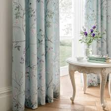 Lined Bedroom Curtains Dorma Duck Egg Maiya Lined Pencil Pleat Curtains Dunelm House